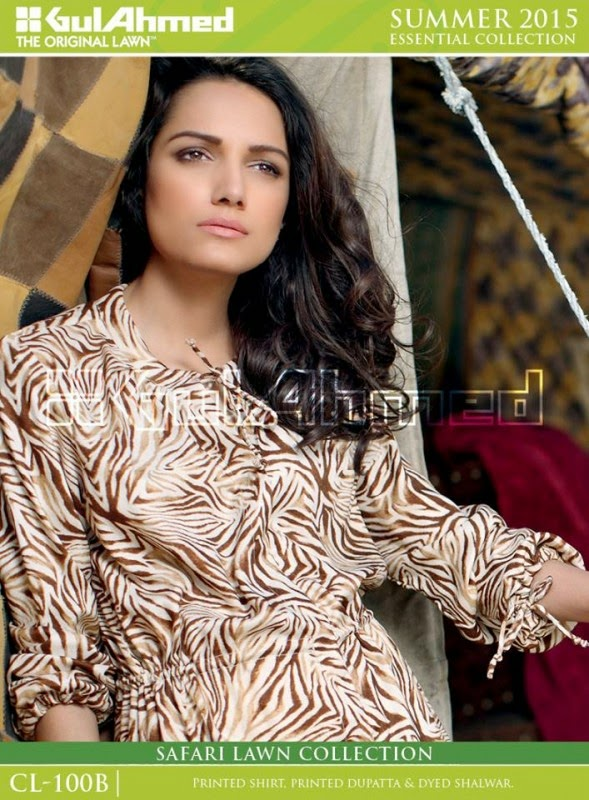 Safari Lawn Summer Collection by Gul Ahmed 2015