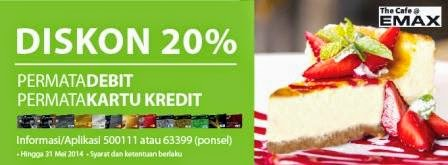 Promo Dining | Cafe terbaru di EMAX CAFE [ Berlaku 11 Apr 2014 s/d 31 May 2014 ]