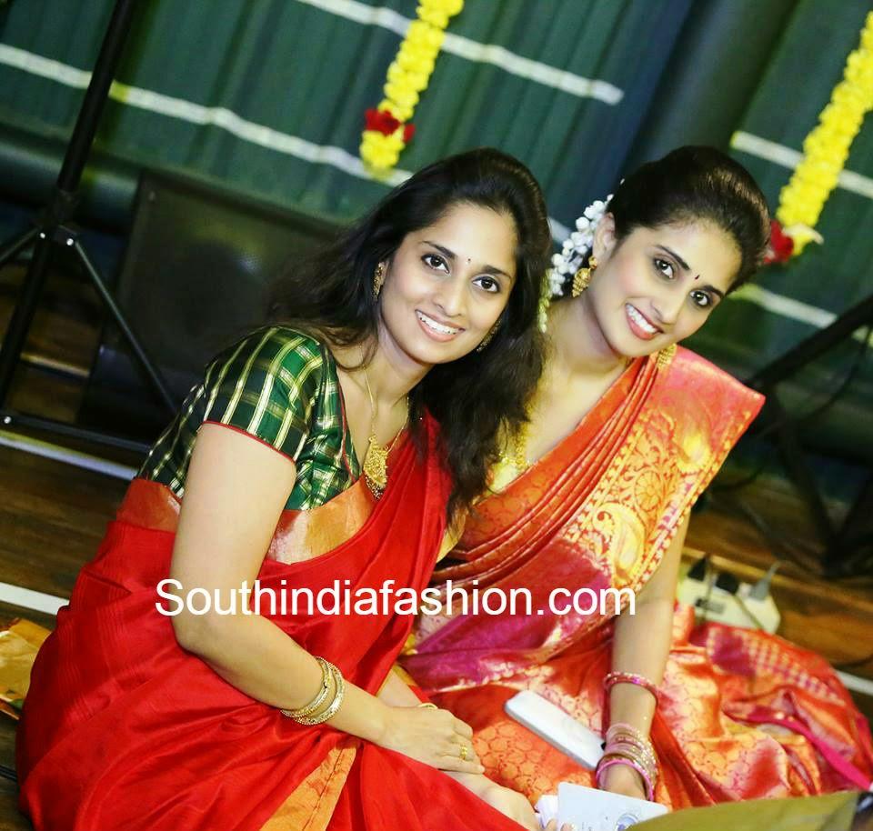 shalini and shamili in bridal sarees