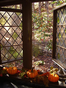 Click on the window to take a tour of our 18thc. home and gardens~