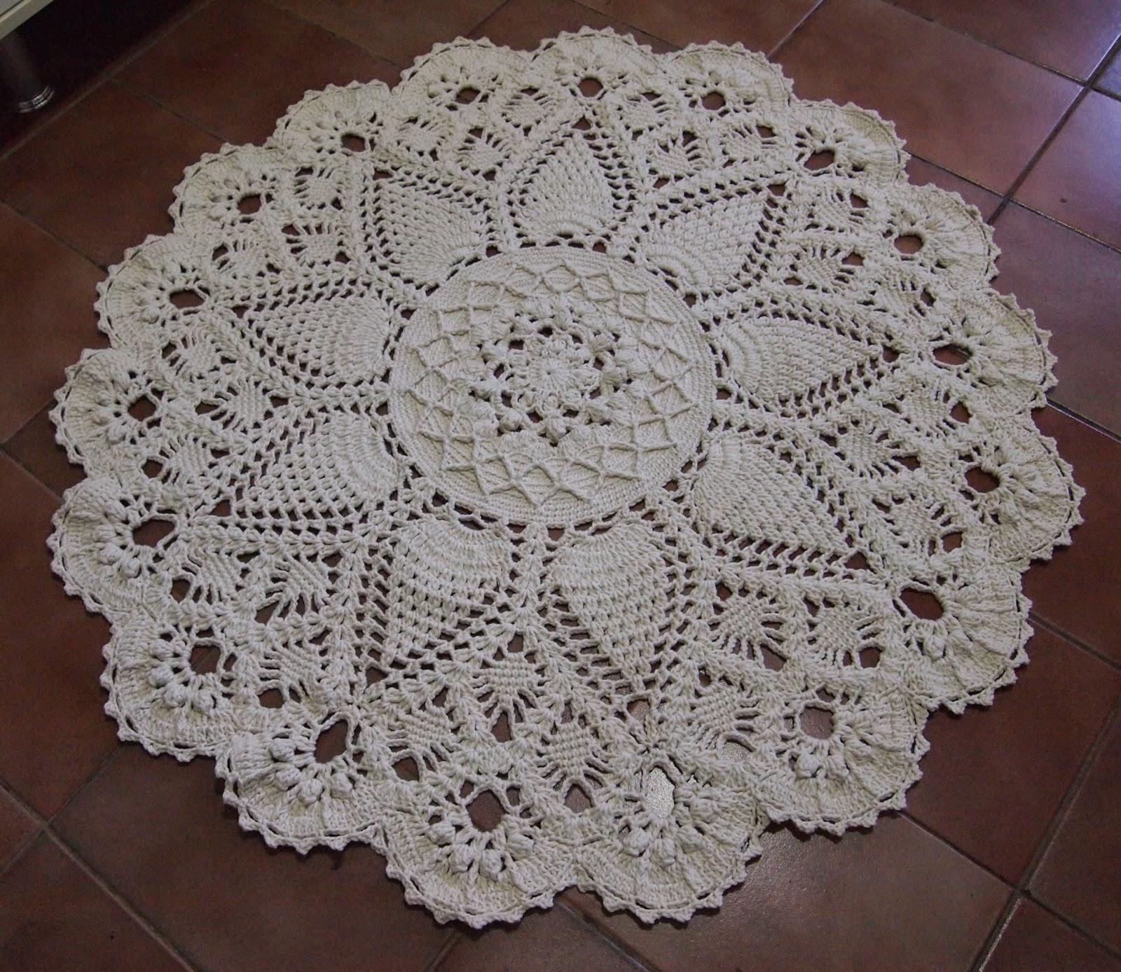 os croches da elsa tapete russo redondo orion