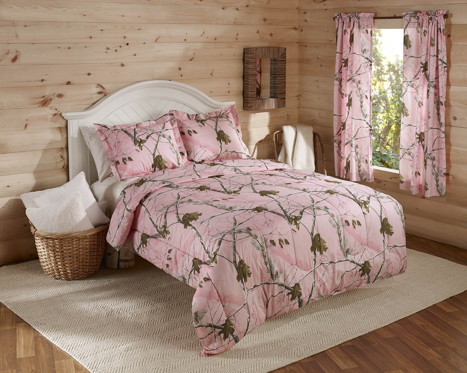 Camo Bedding With Hot Pink - Uber cheap pink camo bedding mini camo comforter set