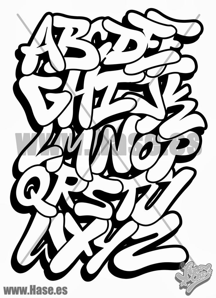 Excepcional Graffiti Wall: letras de graffitis abecedario XE92