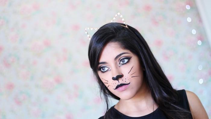 kitty, kitty cat, cat, eye, delineador, halloween, tutorial, passo a passo, fácil, maquiagem, makeup, vídeo, fotos, criativa, rápido, last minute,carnaval, delineado gatinho, como fazer, diy, lentes, lente de contato natural, focinho, pinterest, tumblr