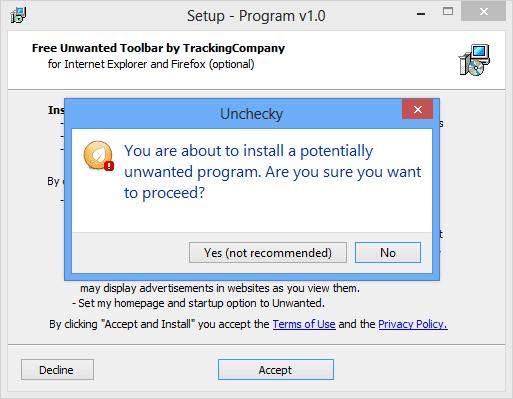 تلقى إشعار و إمنع تثبيت Toolbar و البرامج الملحقة اثناء تثبيت البرامج