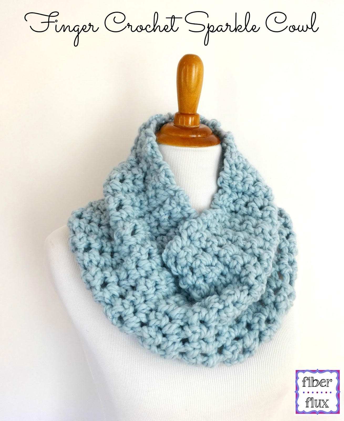 Crocheting Your Fingers : Fiber Flux: Free Crochet Pattern...Finger Crochet Sparkle Cowl!