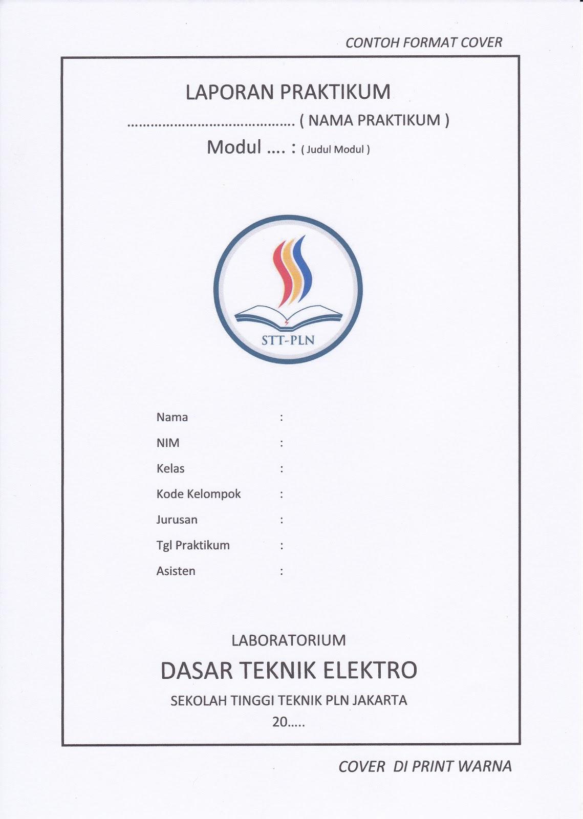 Contoh Cover Laporan Praktikum Loak Info