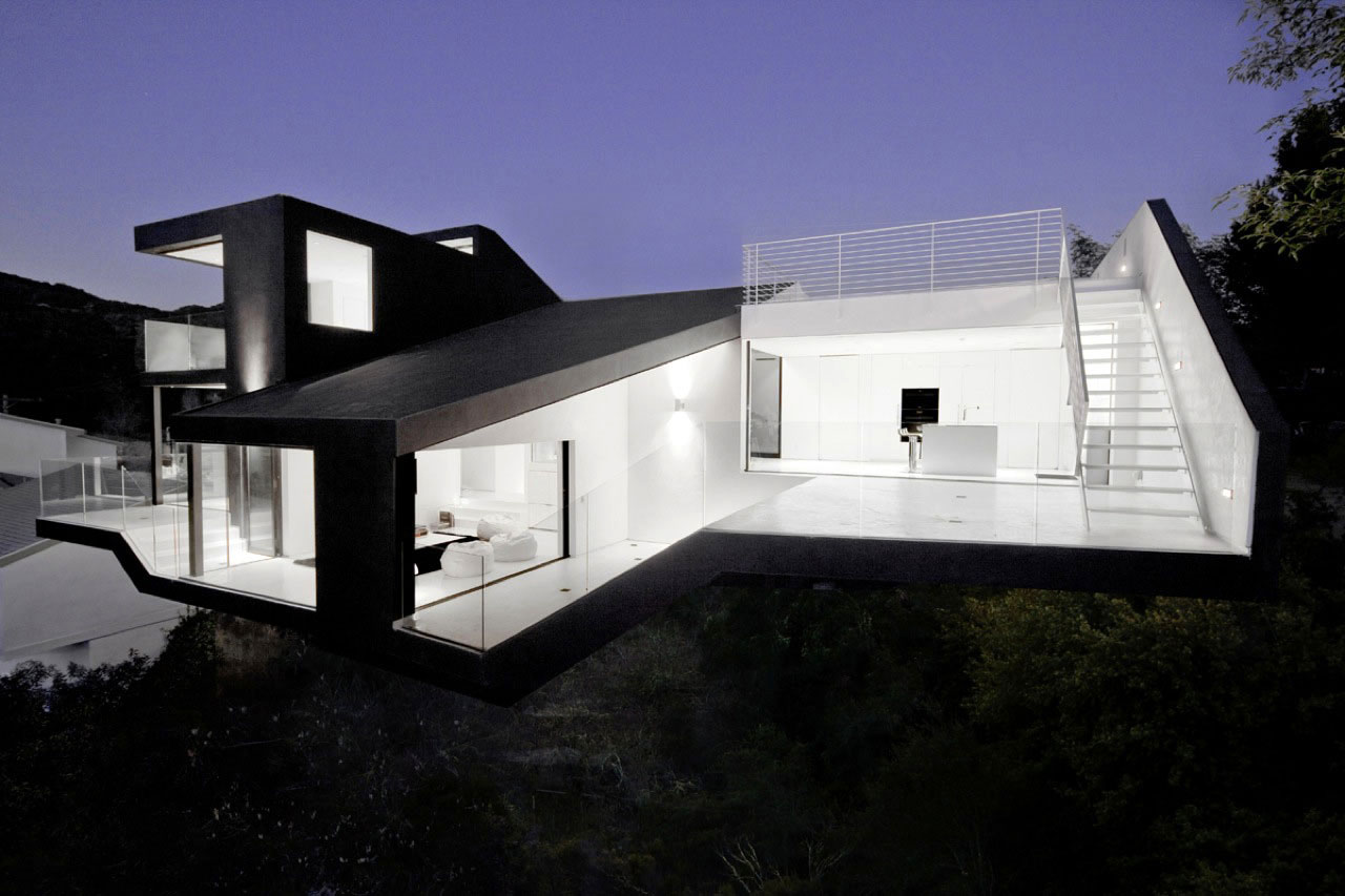 Hollywood hills modern architecture modern design by for Modern house design los angeles