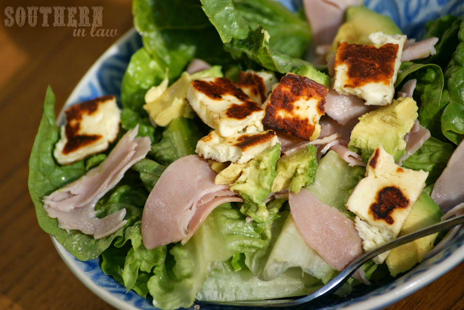 Ham, Haloumi and Avocado Salad