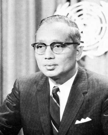 U Thant menjadi Sekretaris Jenderal PBB