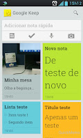Aplicativo do Keep para Android