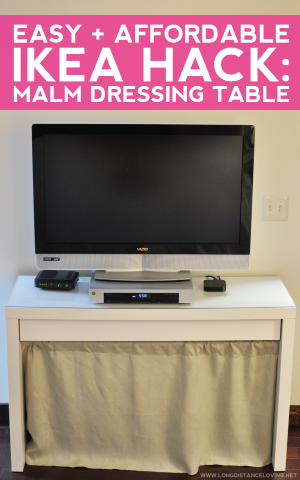 easy + affordable ikea hack: malm dressing table.