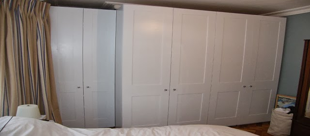 White Shaker Style Fitted Wardrobes