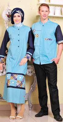 Model Baju Muslim Sarimbit Lebaran Trendy