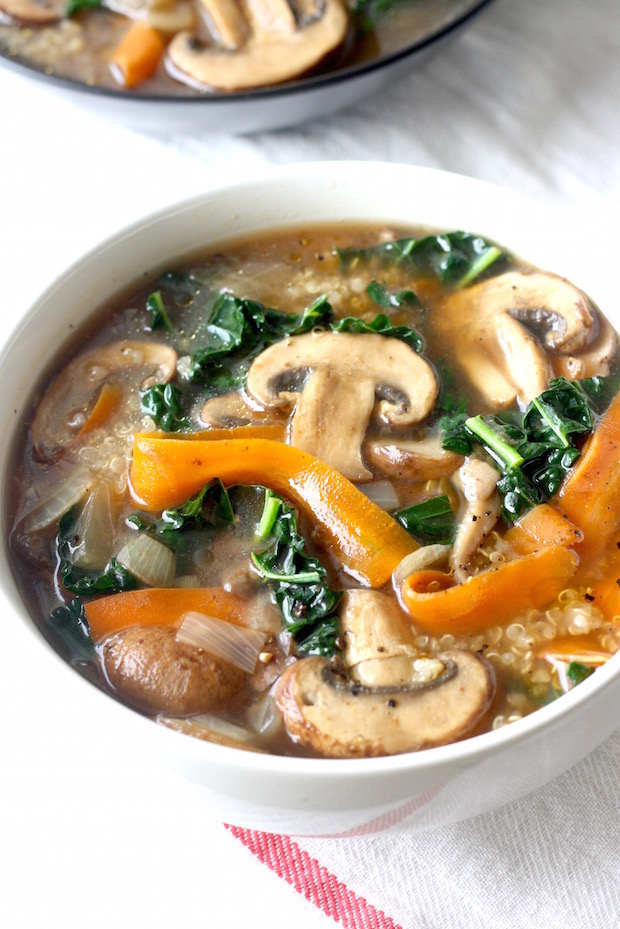 Five Spice Quinoa Soup with Mushrooms & Kale recipe by SeasonWithSpice ...