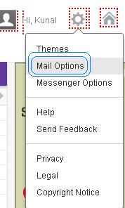 Yahoo Mail options to filter Emails