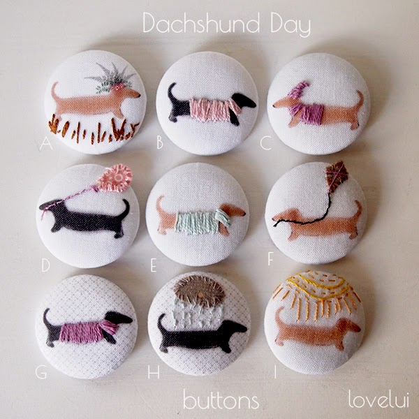 Dachshund Buttons