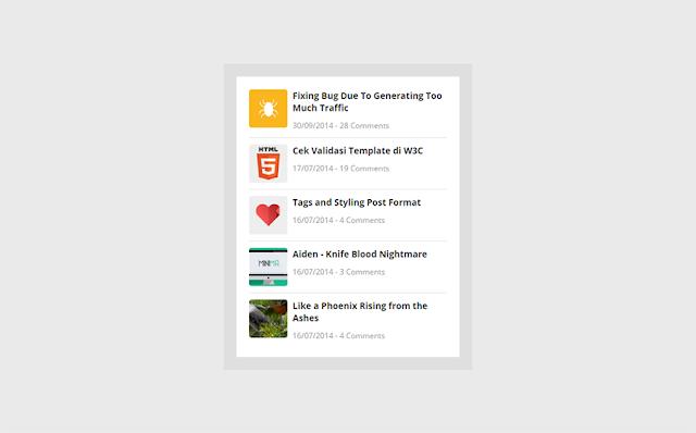 Cara Memasang Widget Recent Post dengan Tanggal dan Komentar