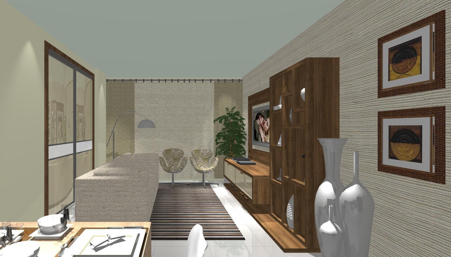 Esta sala foi integrada com a cozinha #8C653F 1518 865