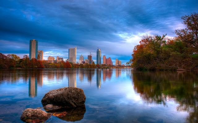 Paisaje HDR de la Ciudad de Austin Texas Imagenes de Ciudades de America