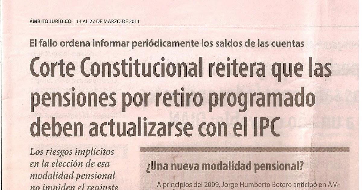 Actualidad jur dica laboral en colombia debe actualizarse la modalidad de pensi n de retiro - Actualizacion pension alimentos ipc ...