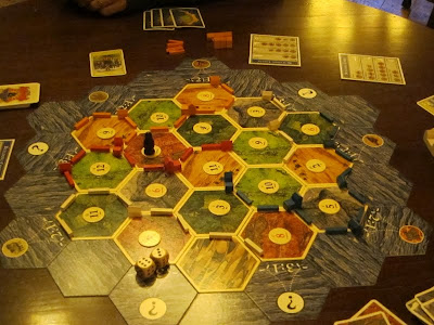 Settlers of Catan -The board at the end of the game and the robber is still bugging me!