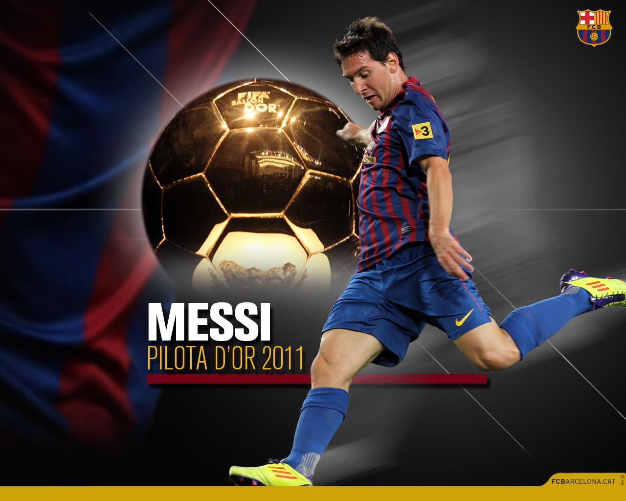 The Best Wallpaper Lionel Messi Ballon D'Or 2011