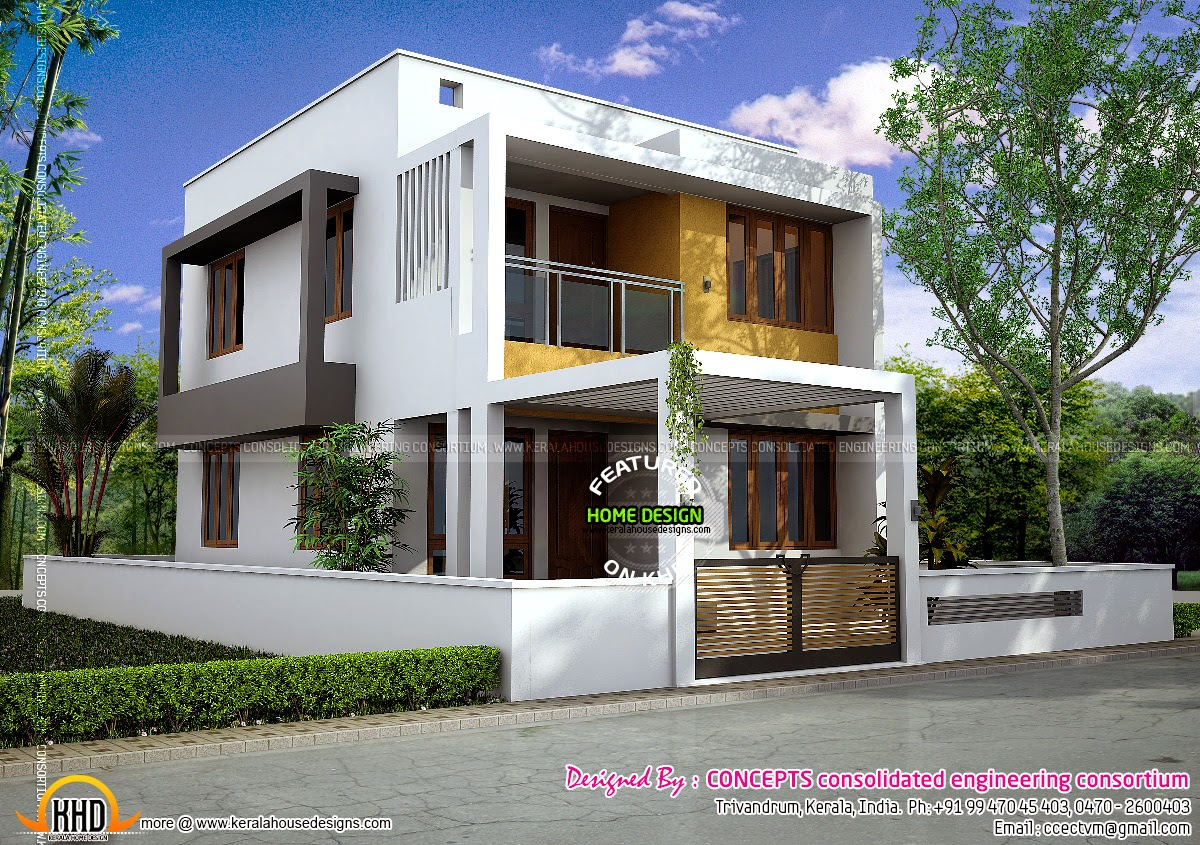 Residence at mannathala trivandrum kerala home design for 2 bedroom house designs in india