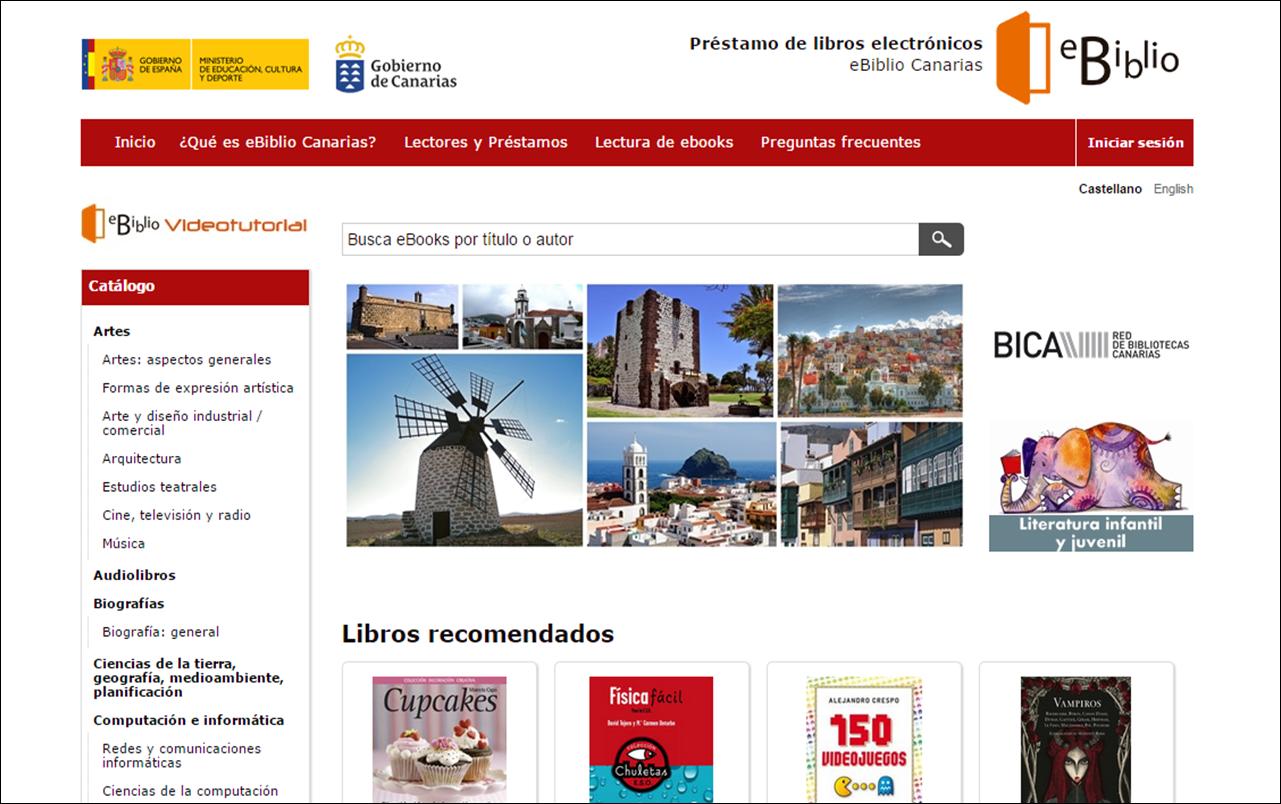 eBiblio Canarias, nueva plataforma de préstamo de libros electrónicos en Canarias