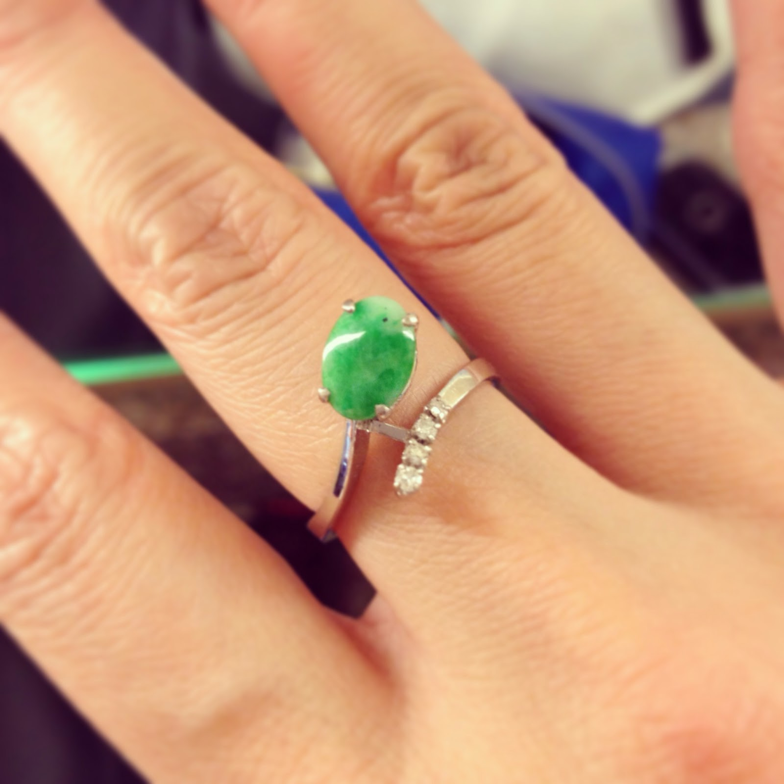 a keepsake wedding gift my aunts jade keepsake wedding rings A Keepsake Wedding Gift My Aunt s Jade Ring