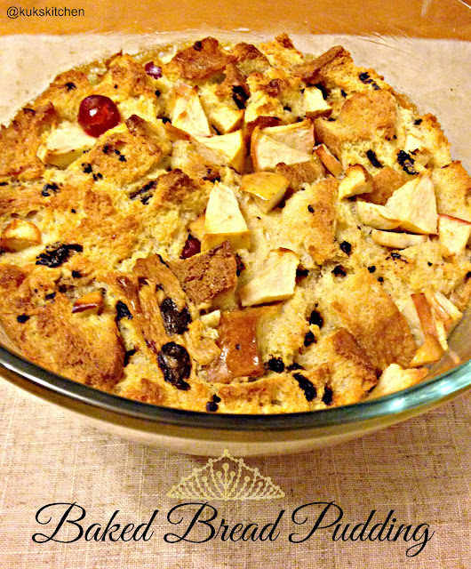 Baked bread pudding | Kukskitchen