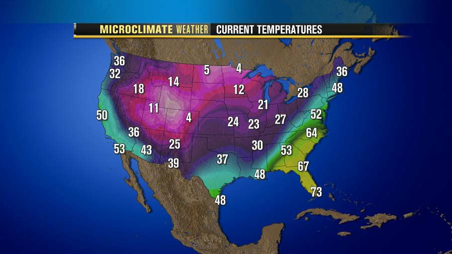 Michaels Weather Blog January - Map us low temperature january