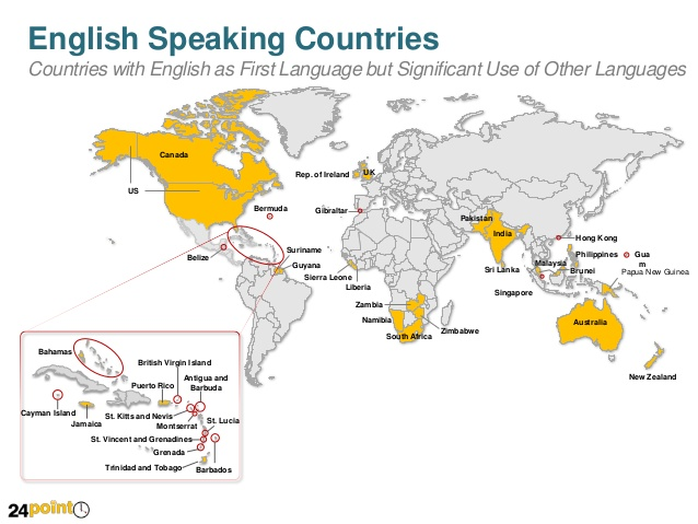 Englishspeaking countries map english lessons english speaking countries gumiabroncs Choice Image