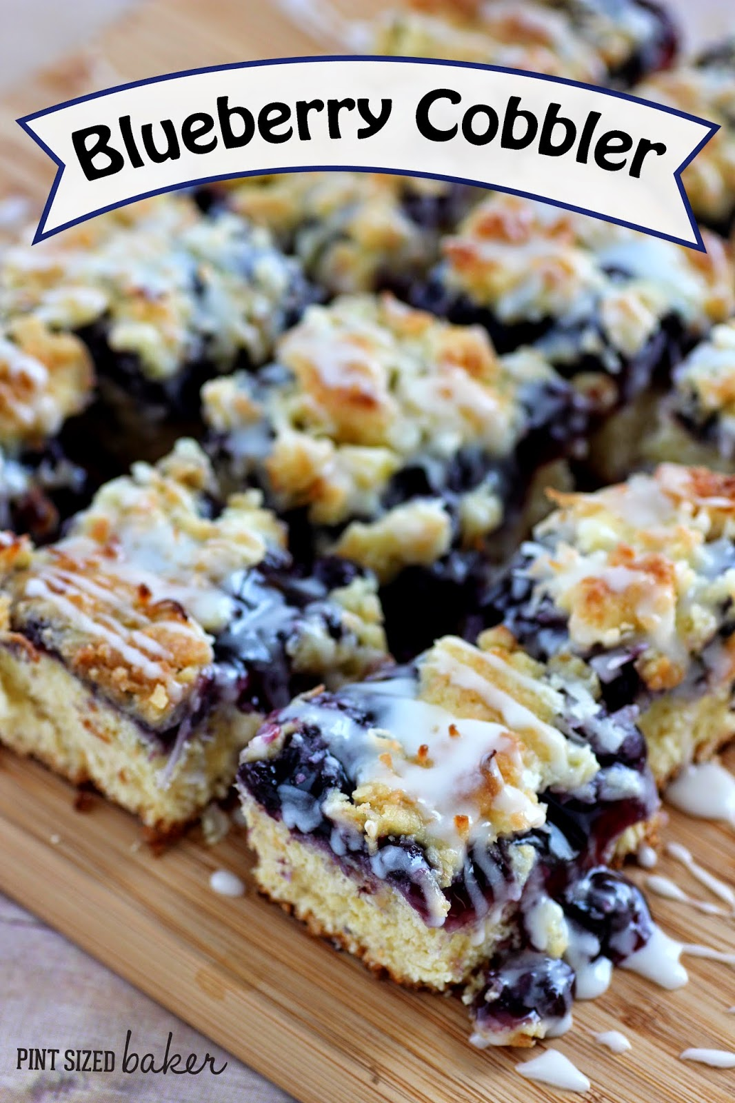 Easy Blueberry Cobbler bars