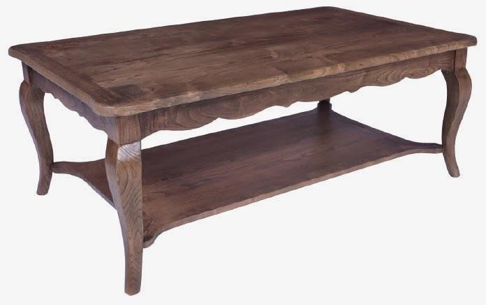 Mesa de centro en roble, mesa baja sofa