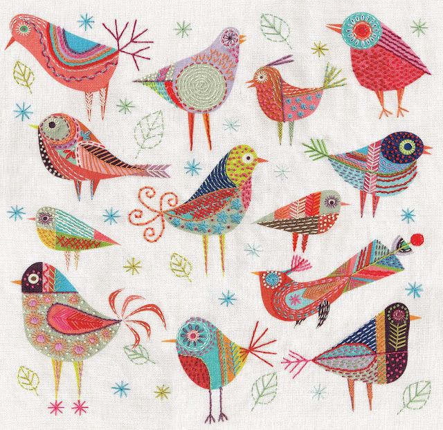 Bird Dance Cushion flat panel 40 x 40 cm square