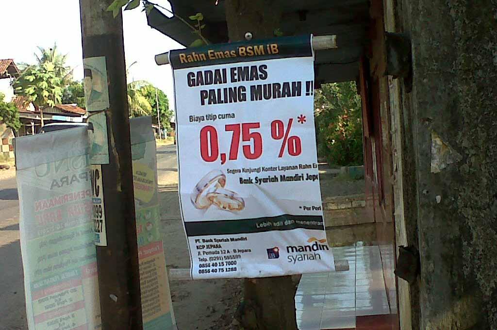 Pinjaman Gadai Emas Di Bank Syariah Mandiri Perbankan Syariah Di