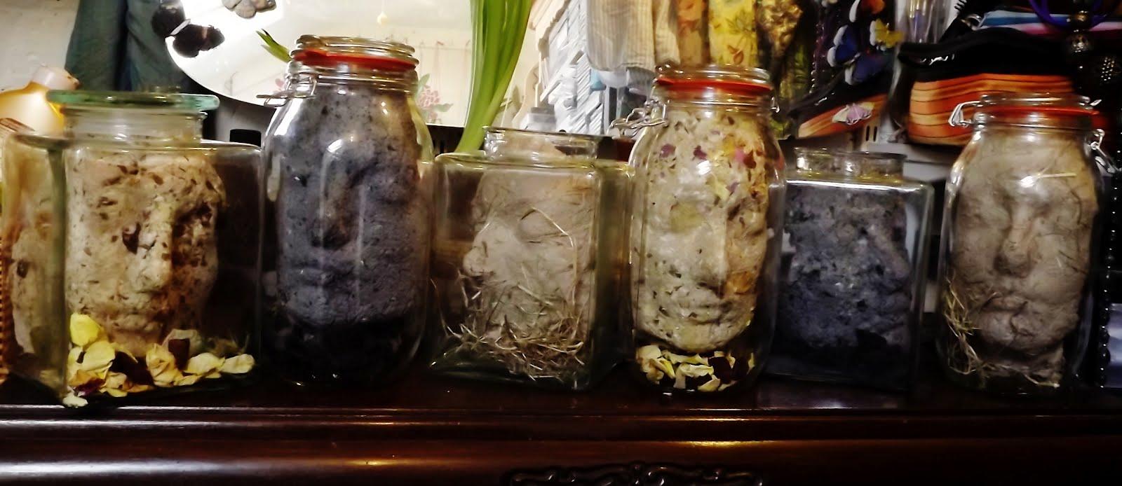 Charlotte pratt visual artist former of matter new works for Heads in jar