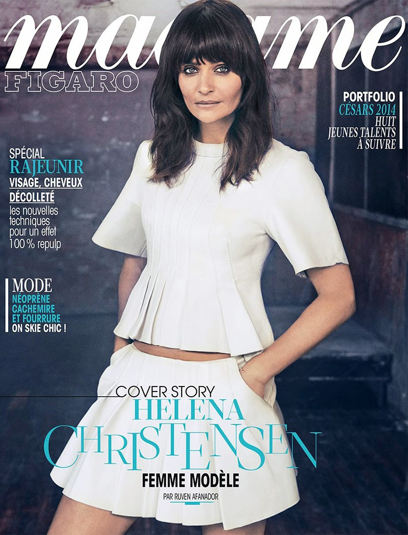 Magazine Photoshoot : Helena Christensen Photoshoot For Madame Figaro Magazine France January 2014