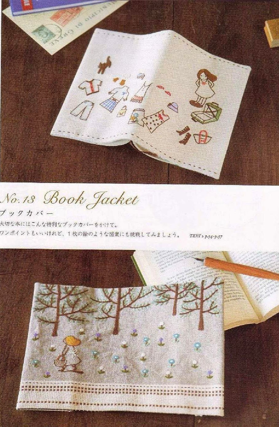 Japanese Fabric Book Cover : Free japanese craft patterns august