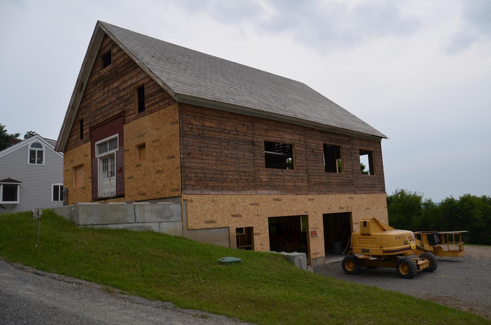 Middlebury barn renovation new window openings framed for Barn renovation
