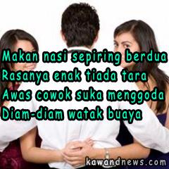 Gambar Kata Kata Romantis Untuk DP BBM yang Berisikan Pantun Cinta