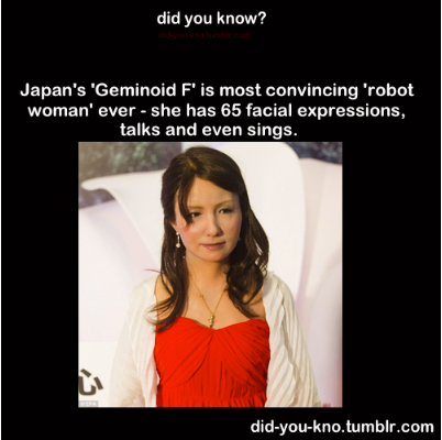"""Gemonoid F"" girl robot in Japan can Sing and dance like real human"