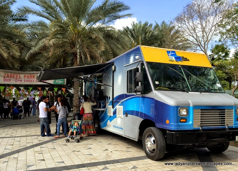 Jake's food truck inside Zabeel Park