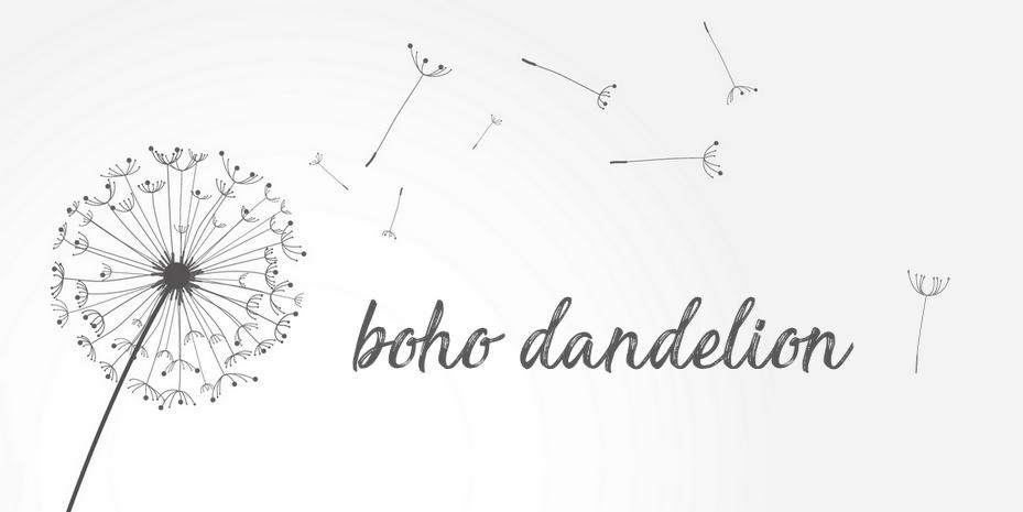 Boho Dandelion, Blog Lifestyle
