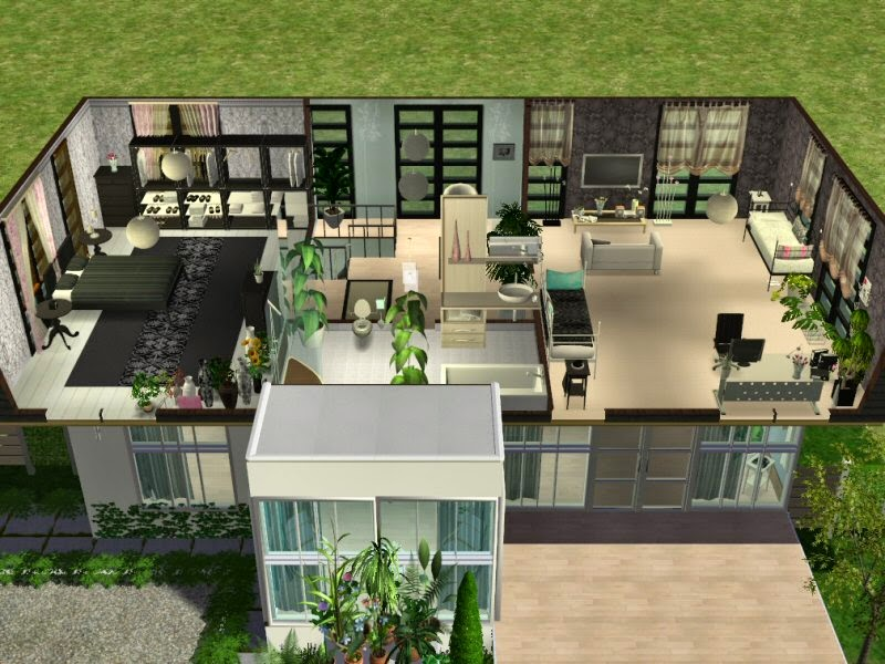 simplified sims 2 haus simstreet 2. Black Bedroom Furniture Sets. Home Design Ideas