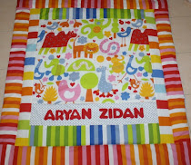 Quilt wit name applique