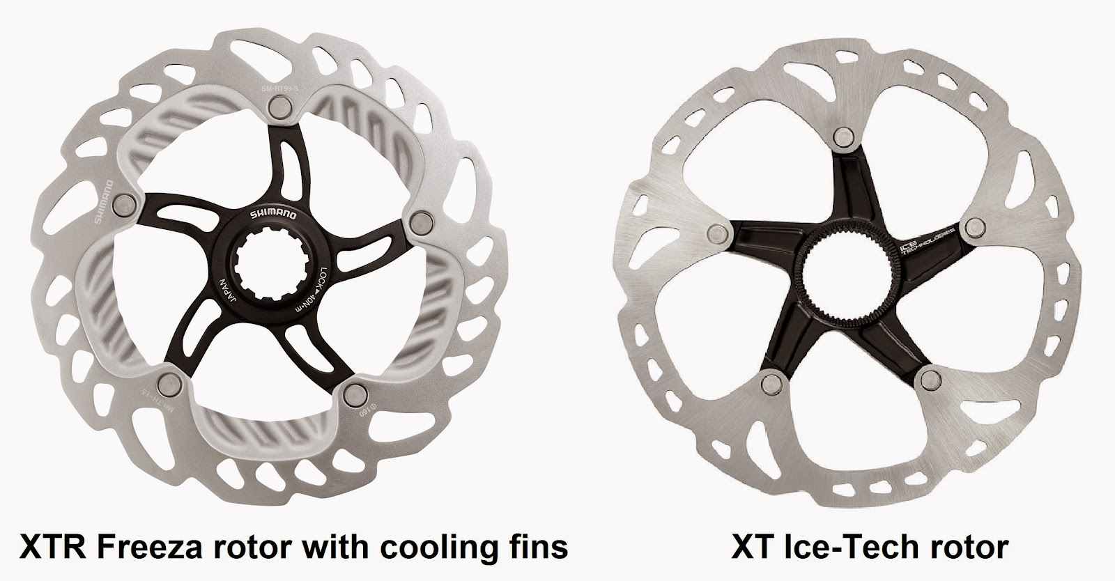 XTR Freeza rotor and XT Ice-Tech rotor