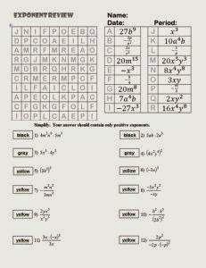 math worksheet : exponent worksheets  math crossword puzzle lesson : Exponent Math Worksheets