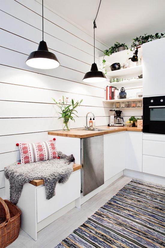Arredamento nordico: pareti cucina nordica